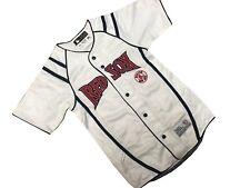 New Youth Boys MLB Boston Red Sox White Baseball Jersey Uniform Shirt