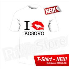 I Kiss Kosovo T-Shirt Albanien Albania Kosova Shqiptar Balkan S - 5XL