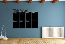 CALENDARIO settimanale piano Lavagna Wall Sticker Home Decor Decal UK rui169