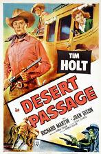 Desert passage Tim Holt Joan Dixon movie poster print