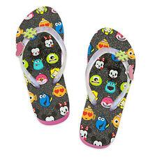 Disney Store Emoji Flip Flops Sandals Swim Shoes Kids Size 9/10 11/12 New