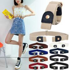 Unisex Buckle-Free Adjustable Jeans Pants Belt Comfortable Invisible Waist Belts