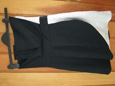 NEXT BLACK AND WHITE PLEATED STRAPLESS SHORT MINI DRESS NEW! UK 8 XXS