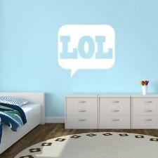 LOL Wall Decal - Funny, Laugh, Text, Office, Kids, Teens, Wall Sticker, Wall Art