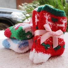 Christmas Women Soft Fluffy Lounge Winter Bed Socks Gift Coral Velvet JJ