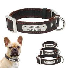 Hundehalsband Lederhalsband mit Namen Welpen Hundenamen mit GRAVUR Braun 3 Größe