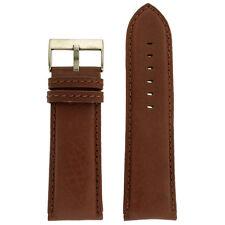 Extra Wide XL Watch Band Genuine Leather Calfskin Dark Brown