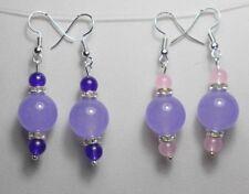Lilac, Pink, Purple Quartzite beads earrings - colour choice