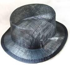 black sinamay mini top hat fascinator millinery base