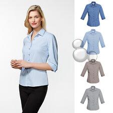Ladies 3/4 Sleeve Shirt Size 6 8 10 12 14 16 18 20 22 24 26 Stripe Business