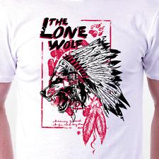 """""""Lone Wolf"""" T-shirt: Crâne Rétro Culte Tattoo Homme/Femme Anniversaire Idée Cadeau"""