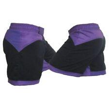 Black and Purple Female MMA Shorts - Warehouse Clearance