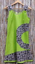 Sommer Kleid Retro Kleid Kreise Ärmellos India Hippie Goa Party Strand Tunika