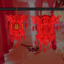 Décoration Lanterne Mariage Suspendue Style Chinois Bonne Chance Noeud Glands
