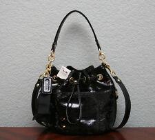 COACH $378 Poppy Sequins POPPY CINCH Drawstring Crossbody Bag 17906 BLACK