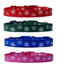 rouge vert rose bleu hiver Snowflake's MOYEN RACE Collier pour chien chiot ou