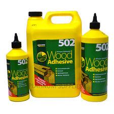 502 ALL PURPOSE WEATHERPROOF WOOD ADHESIVE GLUE EVERBUILD 500ML/1LT/5LTR