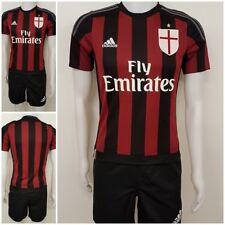 adidas Kinder AC Mailand Trikot Home Jersey Shirt&Short Milan ACM Heim Fan rot