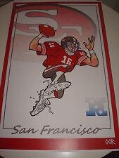 San Francisco 49ers Vtg. QB Montana poster print