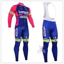 Kju428 Mens Mtb Cycling Winter Thermal Fleece long sleeve jersey Bib Pants Kits