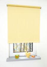 Verdunkelungsrollo Fenster Rollo Springrollo Mittelzugrollo Gelb 60-200 cm