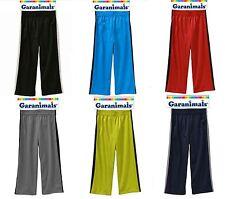 NWT SZ 3T, 5T GARANIMALS JERSEY TAPED PANTS BLACK, BLUE,RED GREY SWEAT PANTS NEW