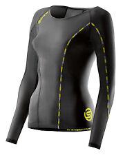 Skins DNAmic Compression Long Sleeve Top Damen Black/Limoncello (DA99060059240)