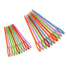 "1Set (20PCs) 2 3/4"" , 3 3/4"" Multicolor Plastic Sewing Needles TSUS"
