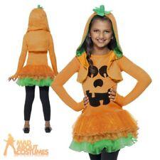 Girls Pumpkin Tutu Costume Kids Child Cute Halloween Fancy Dress Outfit