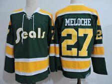 Hockey California Golden Seals jersey Oakland seals GILLES MELOCHE REGGIE LEACH