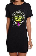 Funky Monkey DJ Women's T-Shirt Dress - Monkeys Clubbing Ibiza House Music