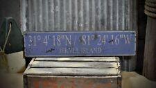 Custom Beach Latitude Longitude Sign -Rustic Hand Made Vintage Wooden ENS1000677