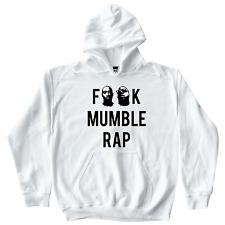 No Mumble Rap White Hoodie Tupac Shakur 2Pac Biggie Smalls Hip Hop Jay-Z Nas