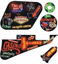 Kit Pickguard Pick Guard Graphical Gibson LP Les Paul Guitar Neon Collage