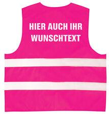 Kinder Warnweste reflektierend rosa 3-12 Jahre mit Ihrem Wunschtext 11705