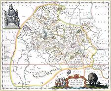 Reproduction carte ancienne - Yunnan (Chine) en 1664 (Yun-nan - China)