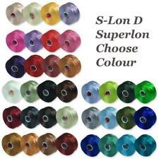Superlon S-Lon Beading Thread Cord Size D Tex 45 0.11mm Choose from 36 Colours
