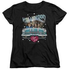 I Love Lucy Hollywood Road Trip Womens Short Sleeve Shirt BLACK