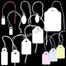 EH8= Hängeetiketten weiß oder farbig Fadenetiketten zu je 100 Stück gebündelt