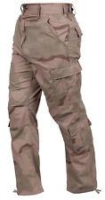 Mens Cargo Pants Military Vintage Style Tri Color Desert Camo Rothco 2186
