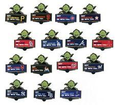 MLB Star Wars Pins Your Choice of most Teams Yoda New In Pkg Pin Disney Wincraft