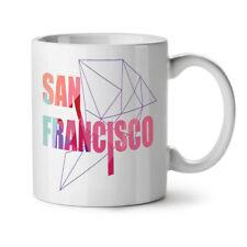 Cool Urbano San Francisco Nuevo Blanco Té Café Taza 11 OZ (approx. 311.84 g) | wellcoda
