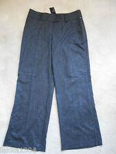 NEXT Grey/Black Wool Blend Wide Leg Office Trouser (NEW) Size:16 Long £45.00