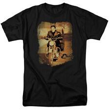 Elvis Presley T-Shirt On The Road Black Tee