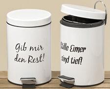 Kosmetikeimer Mülleimer Treteimer Abfalleimer weiß mit Spruch 3 Liter (808150)