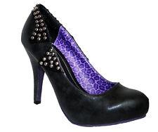 T.U.K. Tuk zapatos Shoes tacón alto zapatos de salón metal gótico tachuelas moto Jacket 37-41