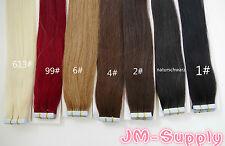 Remy Echthaar Tape On Extensions Skin Weft Haarverlängerung 50cm 2,5g / Tresse