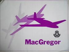 Depliant MacGregor Airmodel Palnes Boats cars 70's