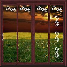 SWIRL VINYL ETCH PATIO/ DOOR/ WINDOW/ MIRROR FROSTED GLASS ART STICKERS