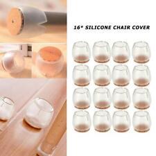 16pc Round Durable Non-Slip Chair Leg Protective Case Cap Pad Silicone Table Mat